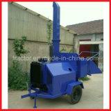 Передвижная деревянная машина шредера, Self-Powered тепловозный деревянный Chipper
