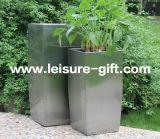 Сплющенный Fo-9007 квадратный цветочный горшок нержавеющей стали