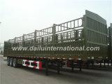 Bonne remorque élevée de vente de mur latéral semi avec le pieu pour la grande cargaison en bloc