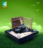 Fontaine d'eau de Tabel de bambou et de sable de Polyresin (TM8001)