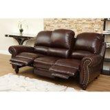 Nailheadのトリムのベストセラーの革横たわるソファー