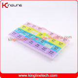 neuer Entwurf Nizza Plastikmedizin-Kasten mit 28-Cases (KL-92802F)