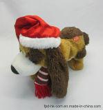 Cão de Santa do brinquedo do luxuoso da animação de Halloween do Valentim do Natal