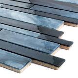 Schwarze Backsplash Baumaterial-Dusche-Glasmosaik-Fliese für Verkauf