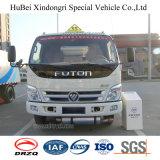 camion-citerne aspirateur d'essence et d'huile d'essence d'essence de l'euro 4 de 5cbm Foton avec le moteur diesel de Cummins