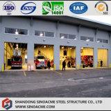 Стальное пожарное депо структуры Pre проектированное с мезонином