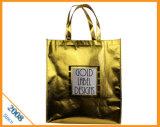 Bolso promocional no tejido de la laminación del laser y bolso de compras