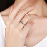 2017 고유 결혼 반지 925 순은 물 하락 지르콘 반지