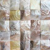 Mosaico de água doce da face do arco da cor 60*60mm de Brown da natureza do escudo
