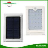 Luz solar al aire libre accionada solar impermeable de la pared del sensor de movimiento de la luz PIR del alto brillo 25 LED