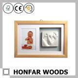 Baby Footprint&Handprint van het Frame van het huis de Decoratieve Witte Houten