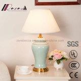 중국 작풍 세라믹스 바디 빛 거실을%s 미색 테이블 램프