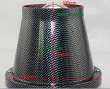 Tubulação da entrada do filtro do vagem do universal do filtro de ar 3in do carro do carbono auto