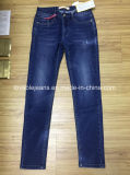 pantalones vaqueros azul marino del dril de algodón 9oz (HYQ112-11GDT)