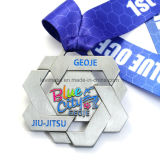 주문 육각형 앙티크 은 연약한 사기질 실행 피니셔 스포츠 메달