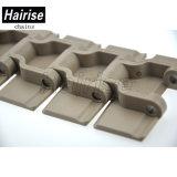Cadeia de transportador de mesa de torneira lateral e termoplástica com ISO