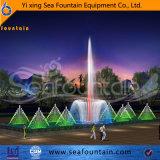 Decorativo ligero europeo de la fuente LED de la música del estilo de la construcción urbana