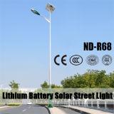 30W~200W LED Solarstraßenlaternearmiert mit Doppeltem 12/24V 60ah Lithium-Batterie