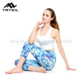 Fornitore blu della fabbrica di Capri Legging di usura di forma fisica di yoga