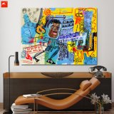 New Graffiti Wall Picture Desenho Animado Black Man Oil Painting