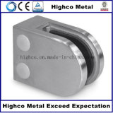 De acero inoxidable Forma D abrazadera de cristal de vidrio Baranda de escalera