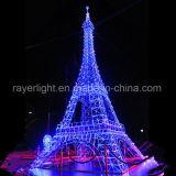 Großes LED-Motiv-Beleuchtung-Eiffel-Weihnachtsim freiendekoration