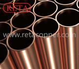 Tubulação de cobre reta da têmpera C12200 dura
