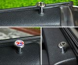 クロム英国国旗のドアロックボタンの小型たる製造人(2 PCS/Set)