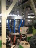 De tres capas Co Extrusión de tracción de rotación soplado Máquina de Cine