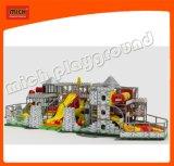 大きい球のプールの柔らかいプラスチックが付いている大きく多彩なスライドは子供6642bのための演劇公園をもてあそぶ