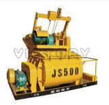 misturador concreto elétrico compulsório do eixo 500L gêmeo (JS500)