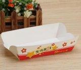 Bandeja de papel disponible impresa respetuosa del medio ambiente del alimento