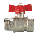 Robinet à tournant sphérique en laiton avec le traitement en aluminium de guindineau (NV-2014 ALU M*F)