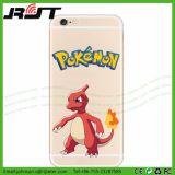 Geval van de Telefoon TPU van Pokemon van het Af:drukken van het Ontwerp van de douane het Rubber voor iPhone 5
