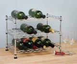 Het MiniRek van de Fles van de Wijn van het Metaal van het Chroom DIY, NSF Apprvoal