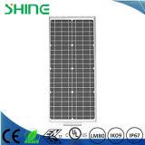 Luz de rua solar do diodo emissor de luz da potência verde completa com o painel solar, a bateria e a lâmpada