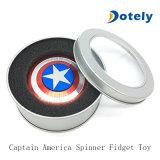 Hilandero de la persona agitada del juguete del metal del blindaje de capitán América