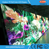 P5 pared video a todo color al aire libre del alquiler LED para la etapa