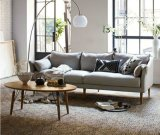 Moderno pequeno sofá de tecido para sala de estar
