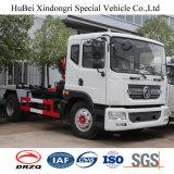 10cbm Dongfeng 훅 팔 드는 유형 후방 선적 유로 4 쓰레기 트럭