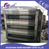 Forno per panetteria elettrico della pizza dei 3 cassetti della piattaforma 6 del gas di Commerical della strumentazione di cottura con vapore