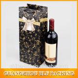 Sac de papier de bouteille de vin de traitement de pp