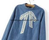 Camicia ricamata S del `delle donne del Jean breve