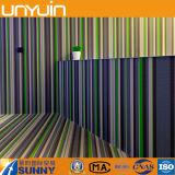 Plancher de PVC de vinyle tissé par fil rond