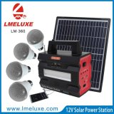 Lecteur MP3 Solar Power Station Spotlight LED Tube et 4 PCS 5 Watt LED Bulbs Système d'éclairage solaire