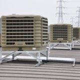 Usine évaporative montée par toit industriel de refroidisseur d'air des vitesses 18000CMH 16 de mur pour l'usine Worshop