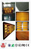 Único indicador do texto da tela do módulo do diodo emissor de luz do amarelo P10