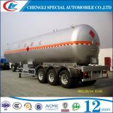 ASME Standard 3 LPG Liter Tanker Semi Trailer van Axles 60000liters
