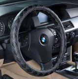 Het Ecologische leder-Zilver van de Dekking van het Stuurwiel van de auto