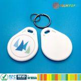 Цветастый ABS RFID Keychain печатание 13.56MHz NFC NTAG210 ЛОГОСА микро-